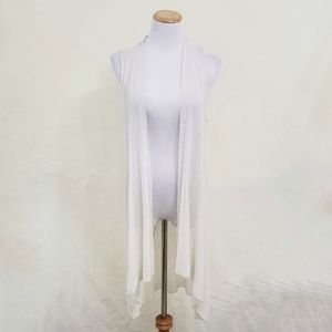 Eileen Fisher ivory duster cardigan loose long LG